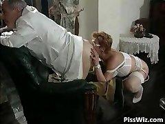 Mature couple love sloppy fuck-fest and taste part2