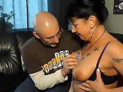 XXX OMAS - German dark haired granny Jenny K. likes it harsh