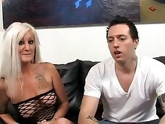 Steaming Tattooed Busty Platinum-blonde Cougar Lana Phoenix