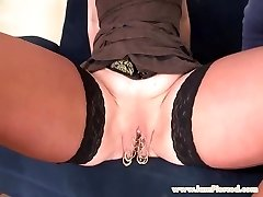 I am Pierced marina with 15 labia rings anal lovemaking