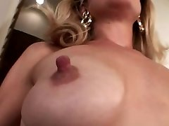 Puny saggy hooters with big nipples
