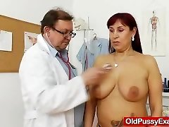Chubby ginger-haired gets a gynecology