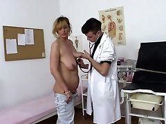Lucky Doctor Penetrates Real Super Hot Mature In Office
