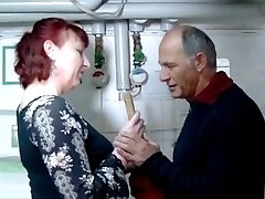 German mature red-haired housewife and the plumber - Amanda