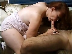 Ginger-haired granny gets busy