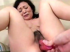 55yr old Grannie Kayoe Ozawa Sploogs and Creamed (Uncensored)