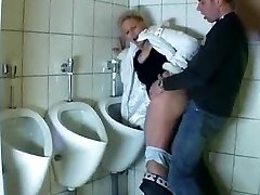 Guy ravages a mature in a public shower