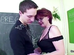 Older School Teach show Young Boy How to Fuck right
