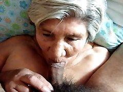 79 Year Elder Grandma Sucking and Facial