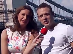 Female Reporter Interview a Young Fellow they end up having Sex