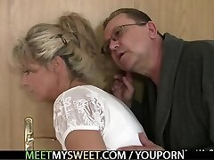 He leaves and old parents seduces his delicious GIRLFRIEND