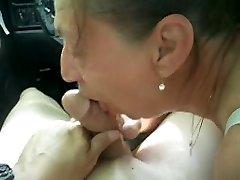 Sensitized Deep Throat in the Car
