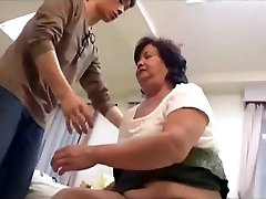 Hairy plumper asian granny loves taboo