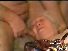 My old auntie swallowing all my cum !