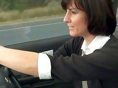 lascivious mom stopped car to masturbate
