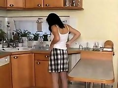 Mother Gets Horny In The Kitchen