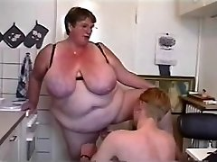 BBW Threesome #Six (FAT Granny & Two Young Guys)