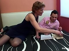 Mature slut with glasses enjoys getting screwed