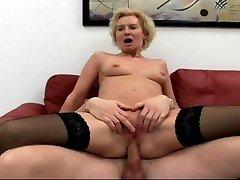 Mature cougar cock fucked to ejaculation