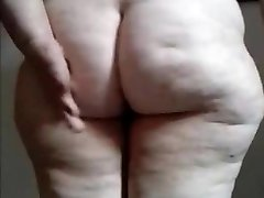 Immense Latin Granny show your ass and pussy