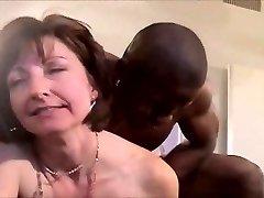 Old-school hotwife interracial DP