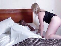 Ugly mature rides big black cock