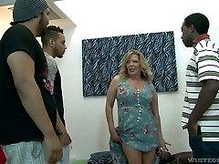 Rough mature slut Karen Summer gets gang-fucked like never before