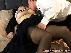 Japanese mature chick has hot hook-up