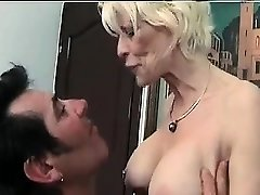 Mature femdom fetish brit in stockings jerks losers knob
