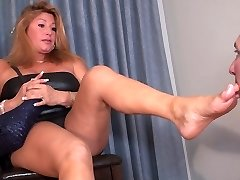 Step-mommy foot pet