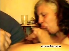 My Married Grandma BBW Whore Neighbor Pissing and Face Fucked