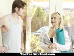 TeamSkeet - Fitness Trainer Cougar Fucks Customer For Free