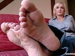 Czech Sexy Feet - Lada Super Soles and Ticklish Feet