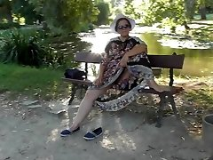Hairy Mature in transparent sundress (part 3)