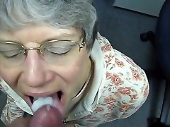 granny drinks cum like a good tart