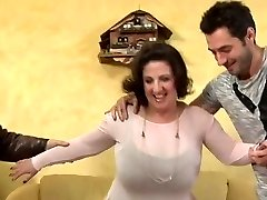 big tits mature gets ravaged by 3 and DP