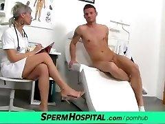 CFNM manstick medical exam with sexy Czech MILF doctor Beate