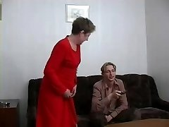 Ugly granny gets banged by a young stud