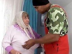 Big Black Cock Creampies Granny with Xxl Tits