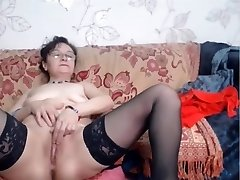 Mature in glasses on cam nude.