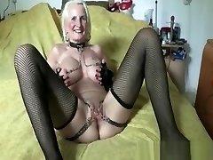 Iam Pierced granny pith twat piercing and chain Super wild