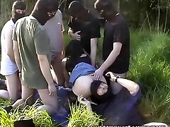 My wife gangbanged by Ten guys at highway rest area
