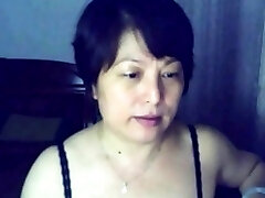 Chinese  woman on webcam