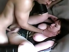 Mature fattie is anal invasion and cooter fucked doggystyle