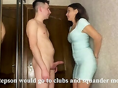 Best sex of a stepmom and stepson while her spouse earns money on a business trip
