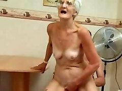Insatiable Grannie Just Loves Cock !