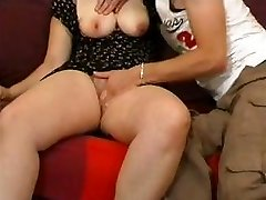 Fledgling couple with buxomy blonde gets fisted and fucked hard