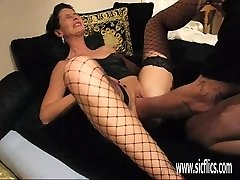 Brutally going knuckle deep his wifes cavernous greedy gash