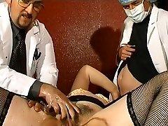 Fat French mature gets weird ass fucking injections
