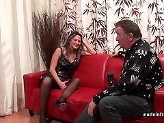 Hard assfucking casting couch amateur mom fisted and DP